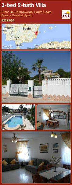 3-bed 2-bath Villa in Pinar De Campoverde, South Costa Blanca   Coastal, Spain ►€224,950 #PropertyForSaleInSpain