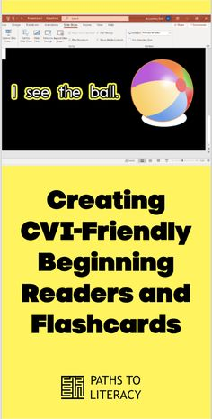 Follow these step-by-step instructions to make your own beginning readers and flashcards for students with cortical / cerebral visual impairment. Visual Impairment, Sight Word Worksheets, Sight Words, Step By Step Instructions, Literacy, Students, Activities, Education, Create