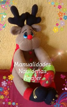 Rena, Diy And Crafts, Minnie Mouse, Teddy Bear, Dolls, Christmas Ornaments, Relleno, Holiday Decor, Projects