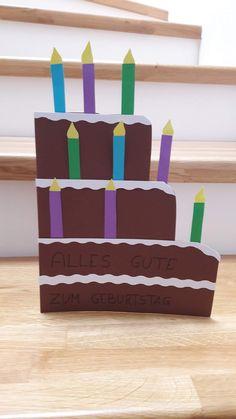 Eine Geburtstagskarte der anderen Art und sehr einfach  zu machen. Versprochen :-) Cake, Desserts, Food, Birth, Kuchen, Simple, Tailgate Desserts, Deserts, Essen
