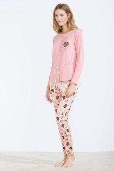 women'secret   Sweet dreams 30% off   Long cotton pyjama with ruffles