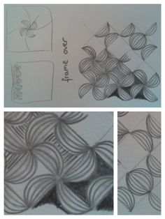 zentangle patterns: frame over - gefunden auf  https://www.flickr.com/photos/texasdoxiemama/