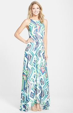 KUT from the Kloth Geo Print Maxi Dress available at #Nordstrom
