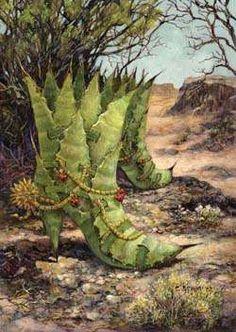 Desert Art: Shoes & Chairs In Desert Theme