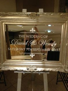 Add sparkle to your event with a mirror seating plans and welcome mirror available at : info.theweddingco@gmail.com or find us in facebook : The Wedding Company By Jessica Nohra