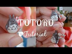 Tutorial #3 - Totoro! Polymer Clay Charm ♡ - YouTube