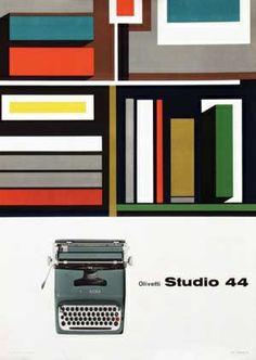 Olivetti Studio 44 Poster, Designed by Giovanni Pintori, 1954
