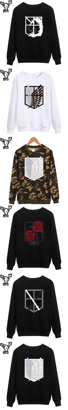 BTS Attack On Titans Sweatshirt Men Hoodie Autumn Fashion Funny Cartoon Capless Hoodies Kids Japan Popular Anime Revie Clothes