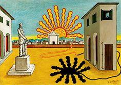 Giorgio de Chirico, Rising sun on the plaza, 1976 Painting Gallery, Art Gallery, Paris Ville, Buy Art Online, Art Moderne, Italian Artist, 2d Art, Henri Matisse, Ideas
