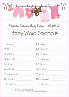 Baby Shower Games and Gift Ideas — Unique Baby Shower Favors Ideas