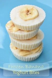 Frozen Banana Yoghurt Bites recipe - Simple and healthy snack idea with only 3 ingredients - easy recipe for kids from Eats Amazing UK - Eats Amazing