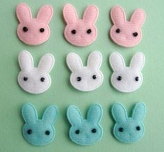These little bunnies look easy and are cute.