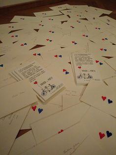 DIY Wedding Invitation Cards Made by Koch Lilla Boróka