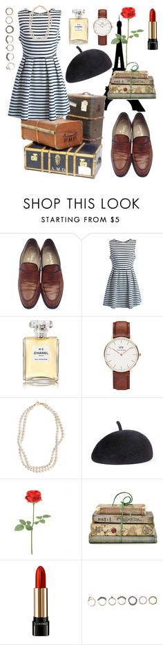 """Meet you in Paris"" by hannahschagene ❤ liked on Polyvore featuring Chanel, Chicwish, Daniel Wellington, STELLA McCARTNEY, Eugenia Kim, Shabby Chic, Lancôme, Iosselliani, travel and paris"