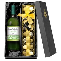 Looking for a gift that oozes decadence This set of luxury truffles and personalised wine is sure to hit the mark Beautifully smooth and rich