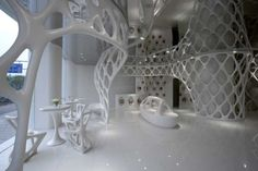 Some cool looking parametric furniture in the Romanticism Shop in Hangzhou, China by SAKO Architects » CONTEMPORIST