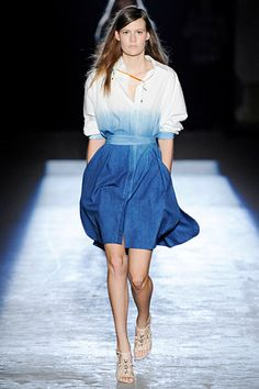 I love this reverse ombre shirt dress by Edun from the Spring 2012 RTW collection