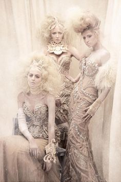 There is something so creepy about this. Like a Marilyn Manson video. Amato Haute Couture.