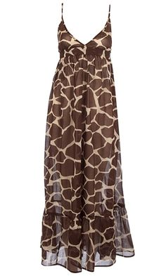 Pretty to wear to party! You, or her. Giraffe print maxi dress,