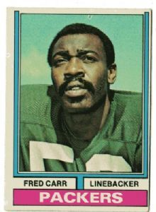 """Fred Alton Carr playedlinebackerfor theGreen Bay Packersfrom 1968-77.He played forPhoenix Collegebefore transferring to theUniversity of Texas at El Paso(UTEP) in 1965, where he was called """"Probably the best overall linebacker in school history.""""[3]Fred was inducted into the UTEP Athletics Hall of Fame, September 23, 2005"""