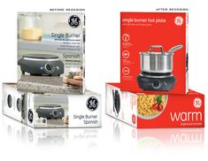 GE Small Appliance Packaging for Walmart by Ann Macdonald, via Behance