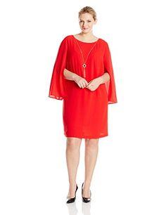 AGB Women's Plus-Size Split Sleeve Scoop Neck Dress  Split sleeve Scoop neck Scoop neck Necklace detail  http://www.artydress.com/agb-womens-plus-size-split-sleeve-scoop-neck-dress/