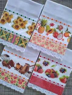 Diy Home Crafts, Holiday Crafts, Sewing Crafts, Sewing Projects, Funky Design, Kitchen Towels, Soft Furnishings, Tea Towels, Patches