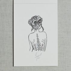 Tattoo idea- silhouette of a girl but entire body (set up like this one) is made with nature