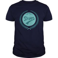 Diver Vintage T-Shirts, Hoodies. BUY IT NOW ==► https://www.sunfrog.com/Hobby/Diver-Vintage-Navy-Blue-Guys.html?id=41382