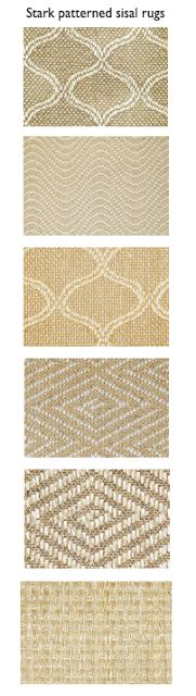 All Sorts Of Stark Rugs Including My Favorite Patterned Sisal On