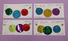 TARGETES DE NADAL - Material: Cartolina, tisores, punxó, paper de colors, cinta, gomets, foradadora - Nivell: Infantil P4 2014-15