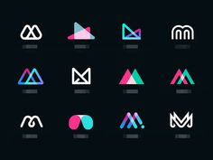 Logo trends for 2019 that will make your company stand out - Logo inspiration - Design de Logotipos e Identidades Inspiration Logo Design, Logo Design Trends, Graphic Design Tips, Identity Design, M Design Logo, Typography Logo Design, Corporate Logo Design, App Icon Design, Corporate Branding