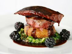 Roast Grouse with blackberries and port wine jus Seven Park Place by William Drabble