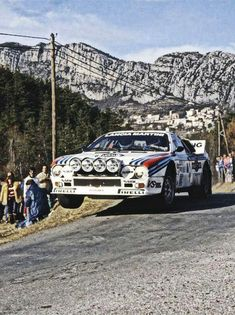 Markku Alén & Ilkka Kivimäki in their Lancia 037 at the 1983 Rally Monte Carlo