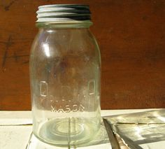 OHIO Quality Mason vintage canning jar antique from 1920s