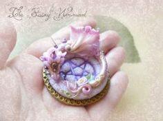 Pentacle Tourmaline Fairy Dragon by EnchantedTokenArt