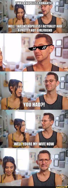 Lol oh Mathias Good Mythical Morning, Funny Cute, The Funny, Hilarious, Dankest Memes, Funny Memes, Jokes, Markiplier, Team Edge