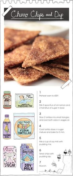 Churro Chips & Dip Recipe, neat vegan food; it's great!