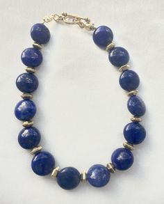 Art Deco inspired lapis lazuli bracelet by WildThingsAdornments on Lapis Lazuli Bracelet, Lapis Lazuli Jewelry, Gemstone Bracelets, Jewelry Bracelets, Costume Jewelry Rings, Royal Blue And Gold, Jade Jewelry, Blue Gemstones, Jewelry Design