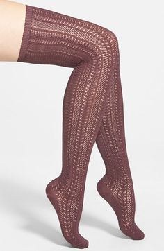 Free shipping and returns on Free People 'Hammock' Openwork Knit Thigh High Socks at Nordstrom.com. Get the look of tights without the uncomfortable waistband in thigh-high socks that feature an intricate openwork knit and stay-put ribbed cuff.