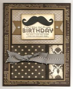 "cased/ modified by Carlene Prichard: Chatterbox Creations-1.blogspot.com - ""My 'Old' Boss Celebrates His May Birthday!"" - 5/29/14.  See BLOG for information and ingredients.  (Inspiration card by Liz Thayer)."