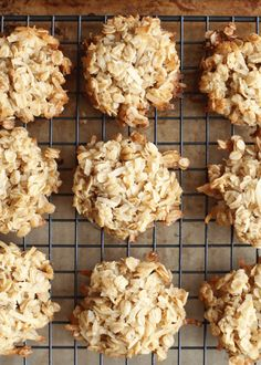 Coconut Lover's Oatmeal Cookies recipe by Barefeet In The Kitchen