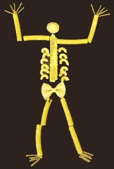 Halloween : bricolages pour enfants : squelette-spaghetti