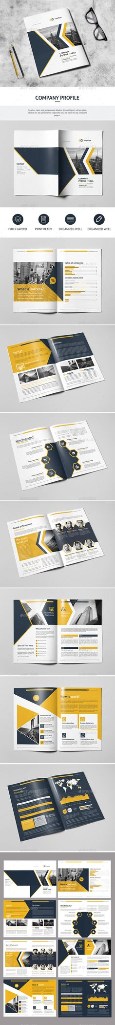 Annual Report Grid layouts, Annual reports and Layouts - business company profile template