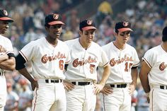 Frank Robinson, Paul Blair, Brooks Robinson and Davey Johnson from the 1970 World Champions