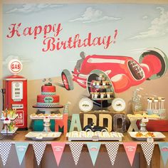 Vintage Vroom! A Classic Race Car Birthday Party: New York event planner Keren Precel has a way with transportation-inspired parties (remember her adorable vintage airplane party?).