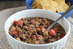 The mix of sweet, smoky and acidity of grilled pineapple makes it a perfect addition to salsa. We used plenty of it in this extra chunky black bean salsa.