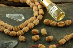 Sandalwood Beads 9x10mm Carved Barrel, 33 beads / Fragrant Natural Wood, Craft, Designer Jewelry Making Supplies / India, yoga, boho, buddha