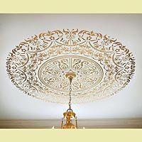 Classical Stencils > The Georgian Ceiling Medallion Stencil http://www.cuttingedgestencils.com/stencil-ceiling-medallion.html?category_id=14
