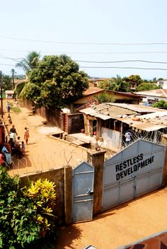 The View from our office in Freetown, Sierra Leone